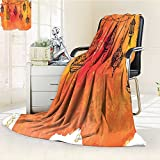 AmaPark Digital Printing Blanket Islamic s Garland Middle Oriental Orange Vermilion Black Summer Quilt Comforter
