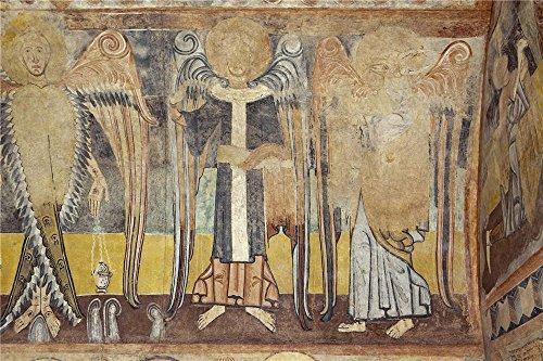 'Anonymous 12 Century The Evangelists Saint Matthew And Saint Luke. The Hermitage Of The Vera Cruz De Maderuelo ' Oil Painting, 8 X 12 Inch / 20 X 31 Cm (Halloween Cocktails Vampire Kiss)