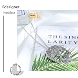 Fdesigner Halloween Skull Pendant Necklace Silver