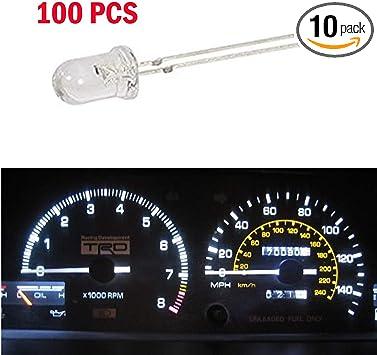50Pcs Red Upgrade 3-SMD LED Speedometer Instrument Gauge Dash Bulb For GMC 12V