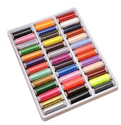 Dealglad® 39, bobina de 200 M de poliéster hilo de coser varios colores surtidos