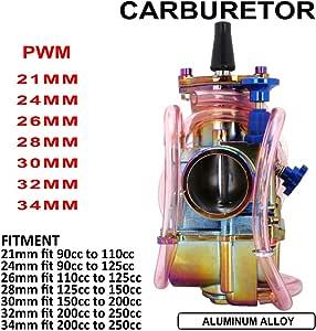 Motocicleta PWK carburador de 26 mm para Honda Suzuki Kawasaki Yamaha 75 CC a 125 CC ATV Dirt Bike