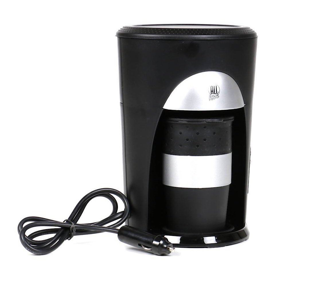 All Ride Kaffeepadmaschine f/ür 1 Tasse inkl Becher mit Deckel 24V 300W