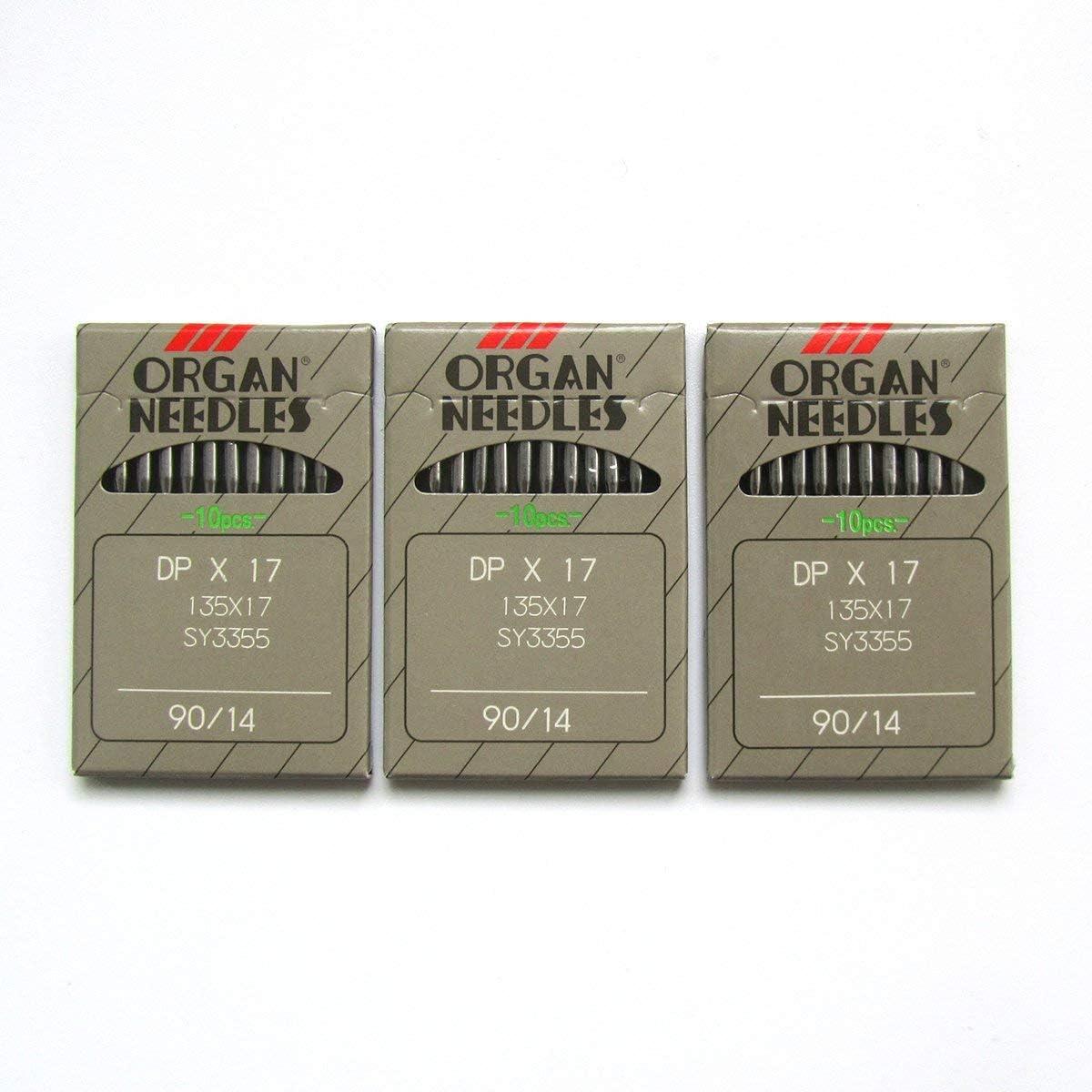 Organ Needle DPX17 - Agujas para máquina de coser (30 unidades, 135 x 17 cm)