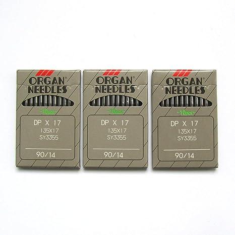 Organ Needle DPX17 - Agujas para máquina de coser (30 unidades ...