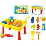 Toys Bhoomi 2-in-1 Beach Sand & Water Play Table for Kids - Includes 8 Accessories for Fun Play
