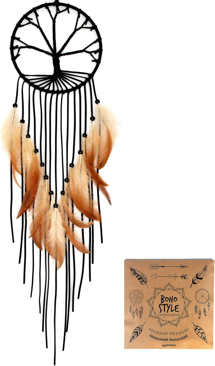 Urdeoms Dream Catcher Tree of Life Tassels Wall Hanging Decoration Dream Catchers for Bedroom Dia 5.9
