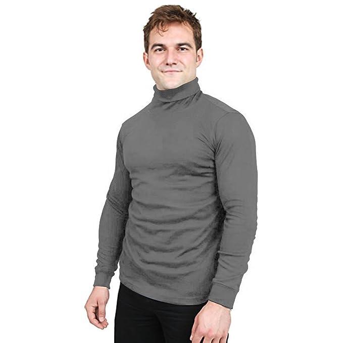 717d4d65e82 Utopia Wear Special Comfort Fit Turtleneck T-Shirt - Premium Cotton Blend  Interlock Fabric -