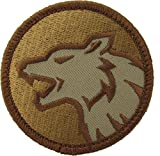 Wolf Head Morale Patch (Desert (Tan))