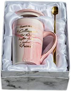 Mugpie Chance Made Us Colleagues Coffee Mug- Funny Coworker Gifts Birthday Gift for Female Boss Women Friends Office Gifts for Mother's Day - Perfect Gift for Going away Leaving Farewell + Gift Box