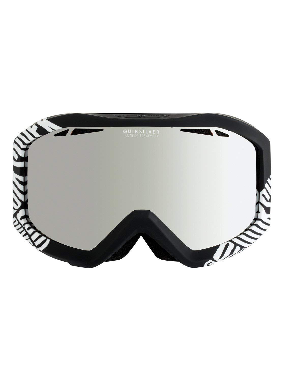 Hombre Negro Quiksilver Fenom Mirror Gafas de Snowboard Talla /Única