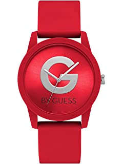 G by GUESS Womens Red Silicone Watch