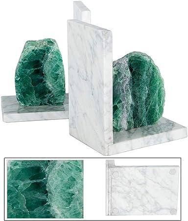 Amazon De Dekor Dekorative Buchstutzen Buchstutzen Marmor Gruner Fluorit Elegantes