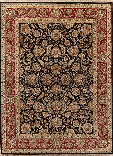 - Agra Oriental Area Rug Wool Handmade Floral New 9 X 12 Indian Carpet