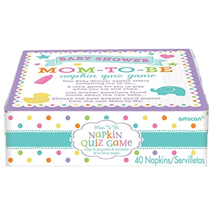 Amazon Com Amscan Mom To Be Trivia Quiz Napkins Baby Shower