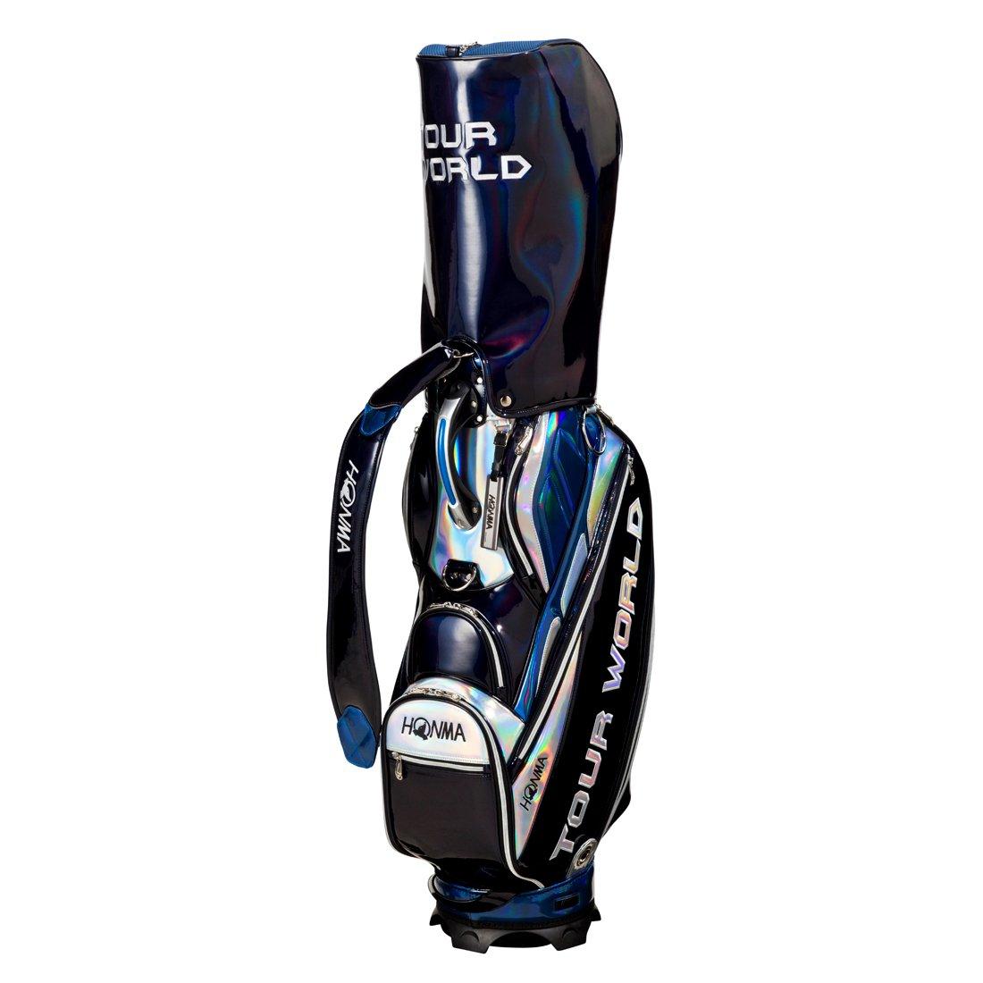 本間ゴルフ キャディーバッグ TOUR WORLD メンズ キャディバッグ 9型 47インチ対応 ブルー スポーツデザイン CB-1735 ブルー B0749G6HWZ
