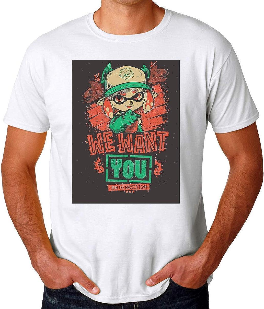 BakoIsland Salmon Run We Want You Camiseta para Hombres: Amazon.es: Ropa y accesorios