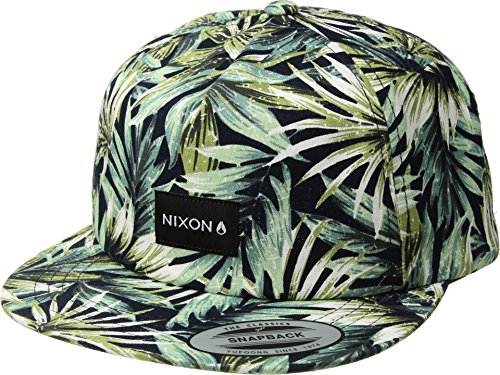NIXON Unisex Tropics Snapback Hat Navy/Pacific Blue One -