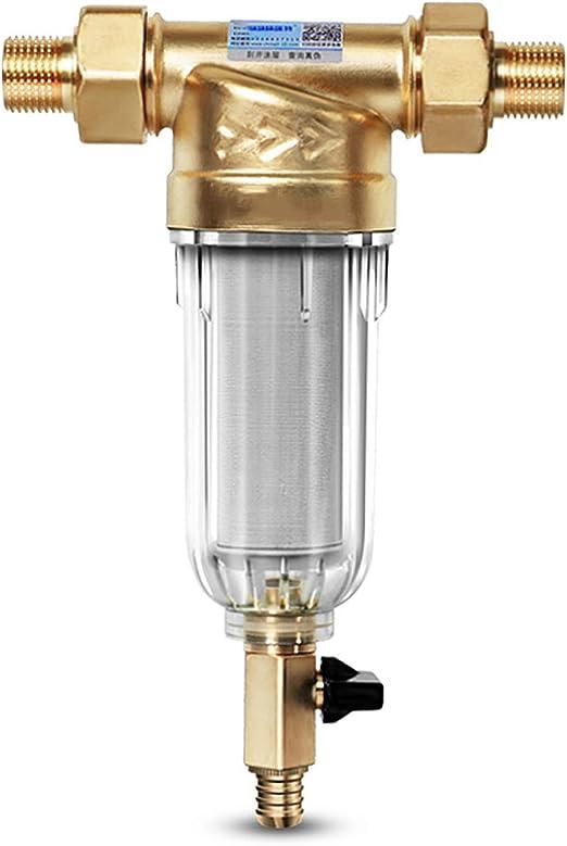 Mixbeek - Prefiltro de descalcificación de descalcificación, Manguera de Agua del Grifo, purificador de Agua Central ...