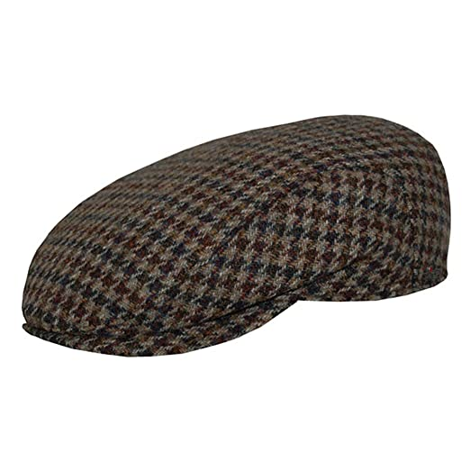 Wigens Axel Harris Tweed Houndstooth Ivy Cap at Amazon Men s Clothing store  f57424664646