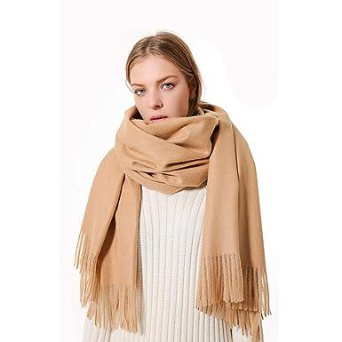 YEBIRAL Écharpe hiver Femme Monochrome Cachemire Écharpe Multifonctionnel  Garder au chaud Châle 217e0d3f2f2