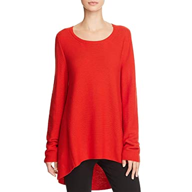 60dc7801dab4 Image Unavailable. Image not available for. Color: Eileen Fisher Womens  Petites High Low Round Neck Tunic Sweater ...