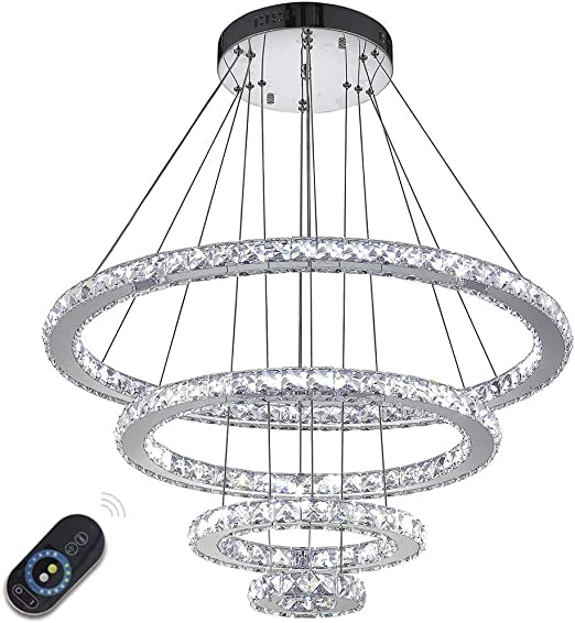 Dimmable LED Lighting Indoor Modern Ceiling Pendant Light Chandeliers Lighting Fixtures with Remote Control