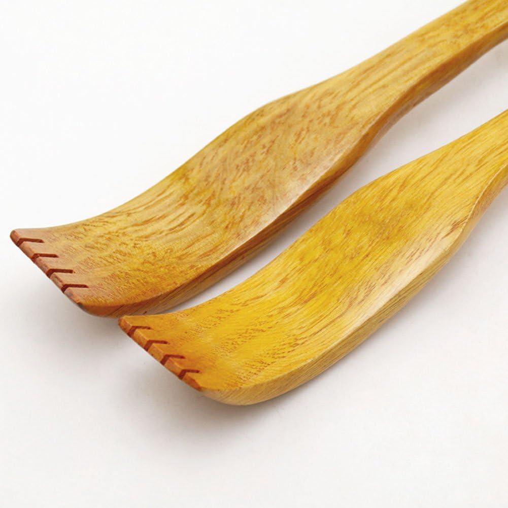 3 cm Leisial 1 St/ücke Back Scratcher Bambus zur/ück R/ückenkratzer Holz 49