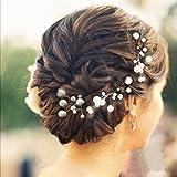 Veewon, 6 forcine capelli con perle e strass, gioielli e accessori per sposa