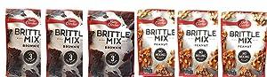 6 Pack (3 Betty Crocker Brittle Mix Bronie & 3 Betty Crocker Brittle Mix Peanut)