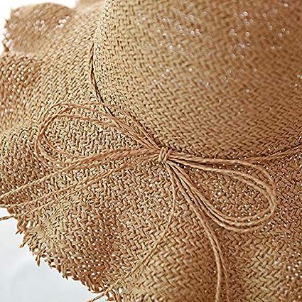 Beach Sun Hats for Women,Sun Straw Hat Wide Brim Summer Hat Foldable Roll up Floppy Beach Hats for Women Yamally