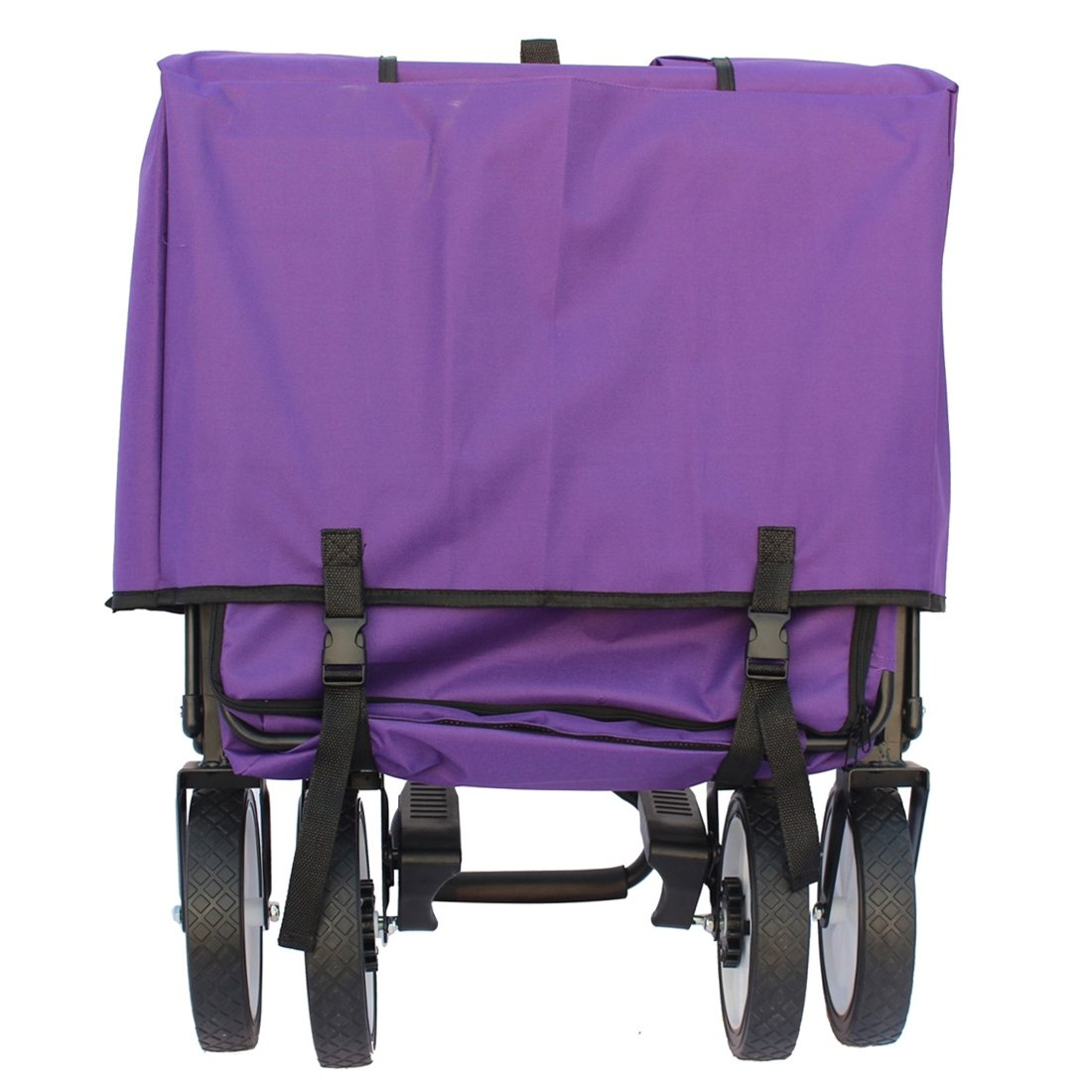 Sports God Folding Wagon Collapsible Utility Graden Cart with Removable Canopy + Storage Basket + FREE Cooler (Purple) by Sports God (Image #6)