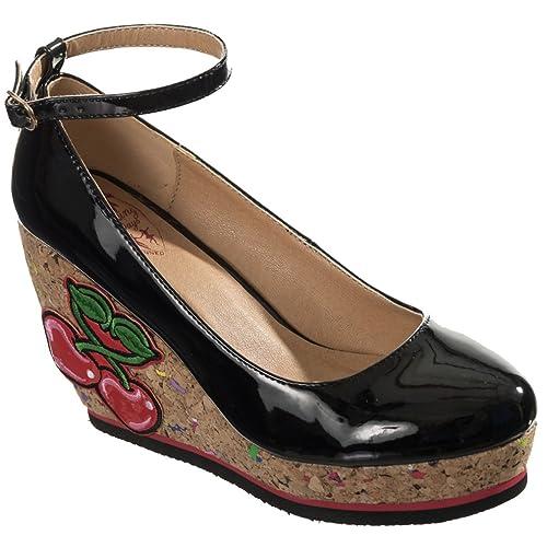Banned - Zapatos de Vestir de Material Sintético para Mujer Negro Negro One  Size 3b40889272c2