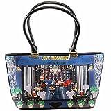 Love Moschino Women's Cafe Printed Large Fabric Satchel Handbag
