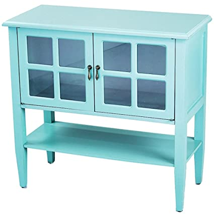 accent console cabinet 12 inch heather ann creations modern door accent console cabinet with pane glass insert and bottom amazoncom