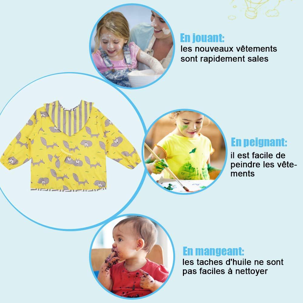 Lictin Bavoir imperm/éable /à manches longues pour les enfants