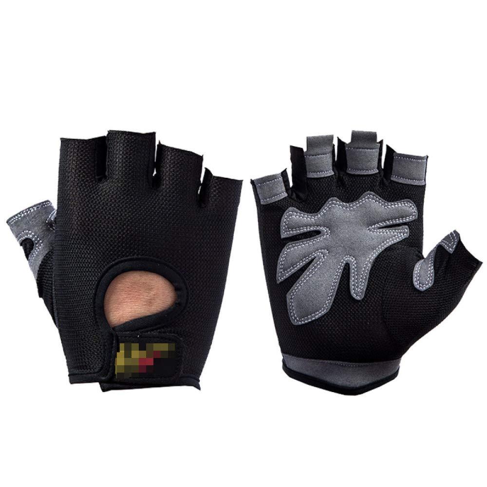 YIWANGO Herrenhandschuhe Fitness Half Finger Dünnschliffbergsteigen Anti-Rutsch-Reithandschuhe,4-M