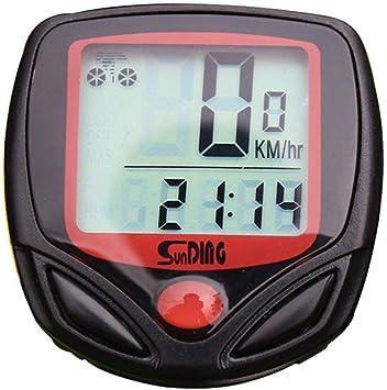 WULAU Cuentakilómetros para Bicicleta Velocimetro Impermeable ...