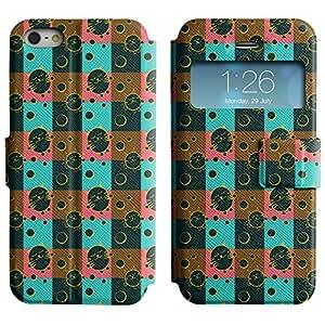 LEOCASE Gato Gordo Funda Carcasa Cuero Tapa Case Para Apple iPhone 5 / 5S No.1000134