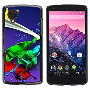 TECHCASE**Cubierta de la caja de protección la piel dura para el ** LG Google Nexus 5 D820 D821 ** Paint Splash Green Red Yellow White Blue