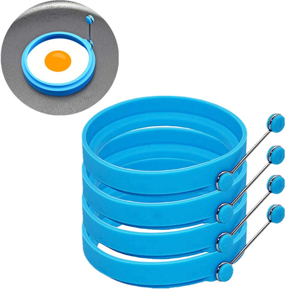 Amazon.com: Round Egg Rings Mold-Vovomay 4 Pcs Nonstick Silicone Egg Ring Pancake Mold Round Egg Rings Mold (orange): Kitchen & Dining