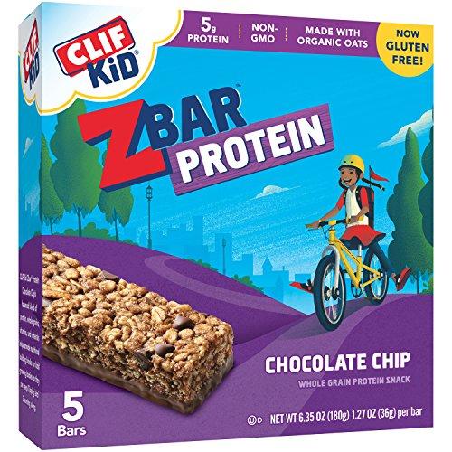 CLIF KID ZBAR PROTEIN - Protein Bar - Chocolate Chip - (1.27 oz, 5 Count) - Kid Z-bar Chocolate