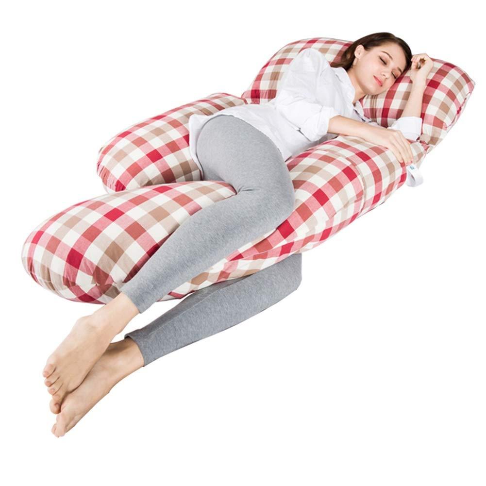 ALXLX Full Body Pregnancy Pillow,Maternity Side Sleeping Pillow,Pregnant Woman Reading Pillow Back Lumbar Abdomen Support (Color : D)