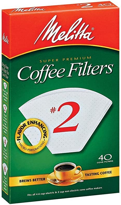 Melitta  8-12 cups cups Cone  Coffee Filter  40 count