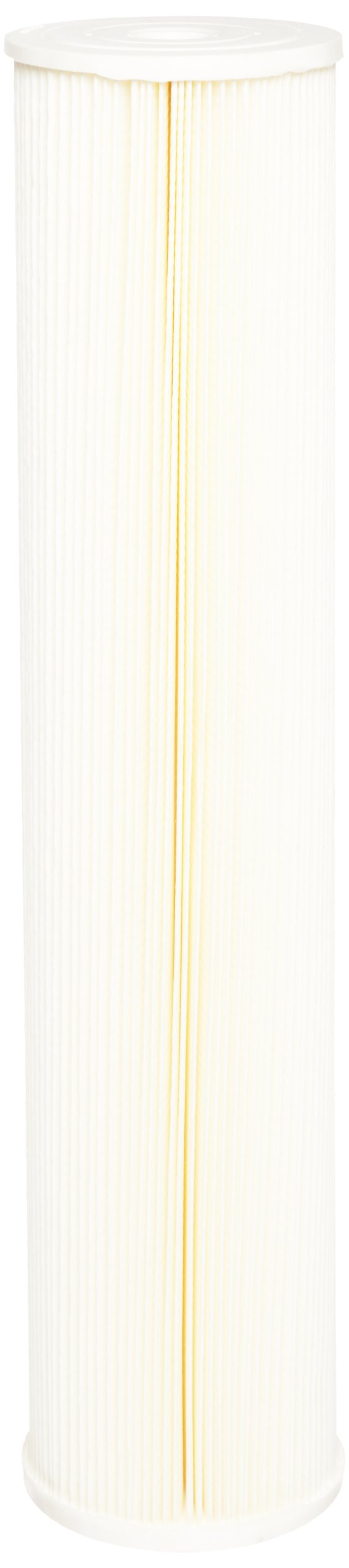 Pentek ECP5-20BB Pleated Cellulose Polyester Filter Cartridge, 20'' x 4-1/2'', 5 Microns