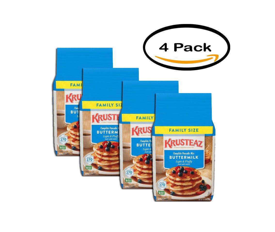 PACK OF 4 - Krusteaz Light & Fluffy Buttermilk Complete Pancake Mix 10 Lbs Bag