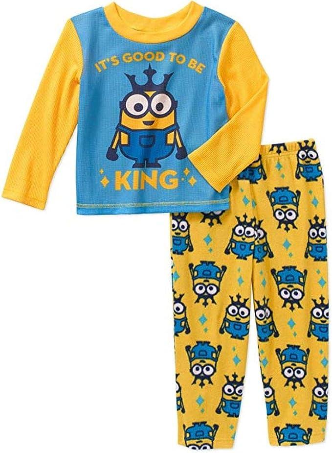 Fleece Pajama Set Despicable ME Boys 4T Good to BE King Thermal