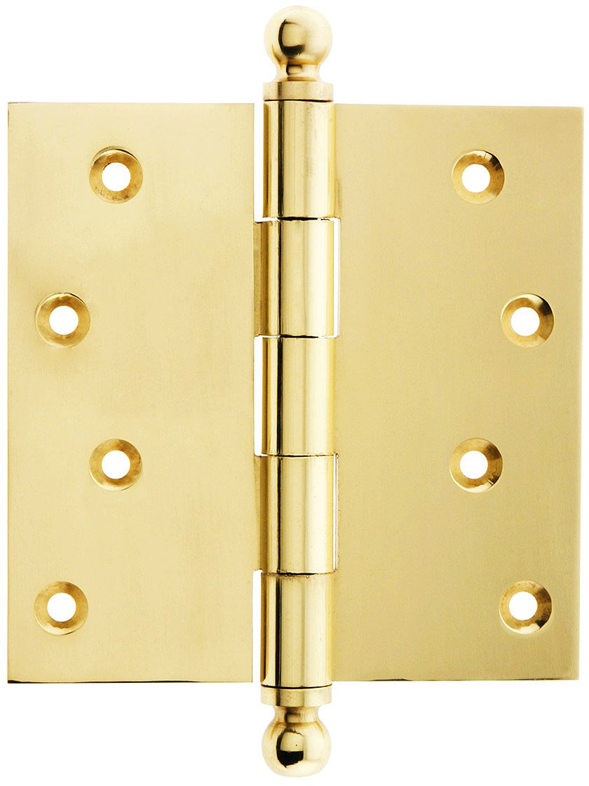 4\  Solid Brass Door Hinge With Ball Finials In Unlacquered Brass - - Amazon.com  sc 1 st  Amazon.com & 4\