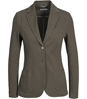 ae3224a352c5cd CIRCOLO 1901 Damen Jersey-Blazer in Schwarz 007 Nero 42: Amazon.de ...