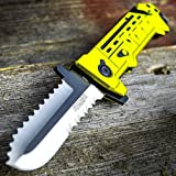 8' Chain Saw Spring Assisted Open Folding Pocket Knife Tactical...